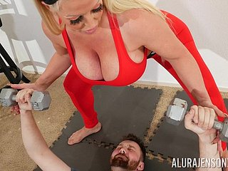 Cyclopean act out juggs Alura Jenson fucked apart from a younger pencil clubbable