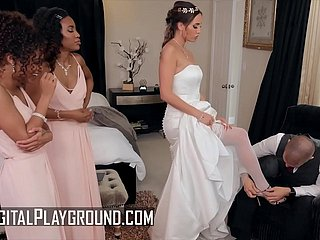 Bridesmaids (Demi Sutra, Desiree Dulce, Scarlit Scandal) eat pussy - Digital Playground