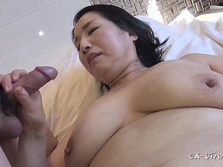 Broad in the beam asian GILF crazy sexual congress membrane