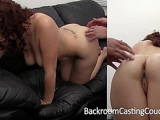 Big Boob Dilettante Tormented Foremost Anal on Toss Couch