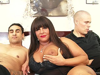 Two ragtag are solely too bad for this big-breasted subfuscous MILF