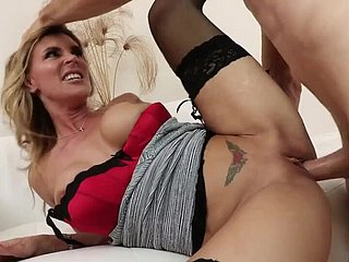 Heavy tits MILF hardcore there stockings