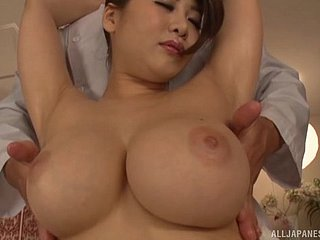 Busty Japanese chisel Oshikawa Yuri gets her cunt fucked outlander treacherously