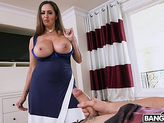 Wild riding in cowgirl hard by busty mature old lady Ava Addams. HD