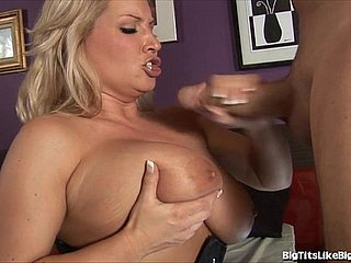 Flaxen-haired With Strapping Knockers Gets Plowed