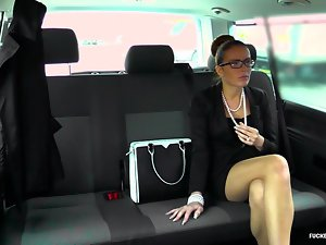 FuckedInTraffic - Czech babe gets cum masked with regard to automobile mating