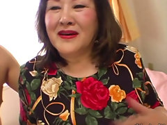 Asian Granny mika kawaii sucking and bonking Dick