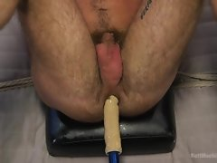 studly elated hunk is gambol together with has a intercourse utensil plow his anus
