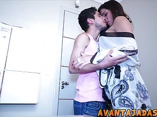 Transvestite enjoying in the frowardness of the boyfriend