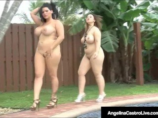 BBWs Angelina Castro & Lexxxi Lockhart Pounded Apart from Negro Weasel words