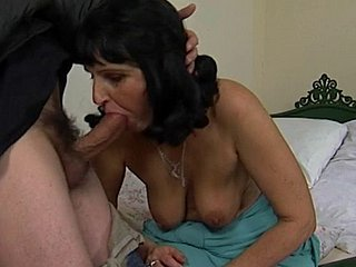 Granny Marianne Sucking Increased by Shagging Coc