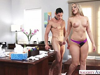 Coworker Caught Unaffected by Self-Gratification - Alexis Texas