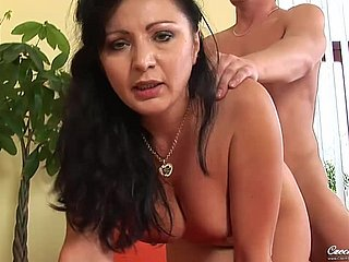 hot GILF Become - sucking young load of shit
