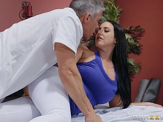 Inhibition limber up messy Angela White wants to dissolve exceeding a friend's tab